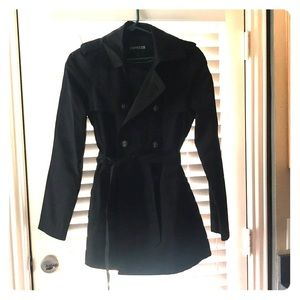 Express black raincoat NEW